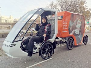 Cykeltaxi i centrum!