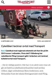 Kollektivavtal med Transport på plats!